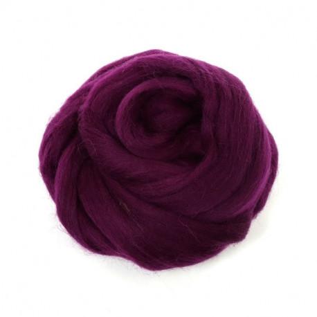 Фиолетовый, 100% Шерсть для валяния РТО (50гр±5гр)
