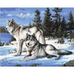 Охраняя любовь, набор для изготовления мозаичной  картины, 40х50см. Anya