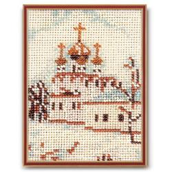 Москва.Смоленский собор, набор для вышивания бисером 14х10см Радуга Бисера