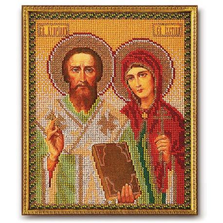 Киприан и Устиния, набор для вышивания бисером 19х23см Радуга Бисера