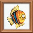 Рыбка, набор для вышивания, 10х10см, бисер+мулине 3+7цветов Риолис