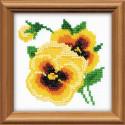 Анютки, набор для вышивания 10х10см бисер+мулине 5+8цветов Риолис