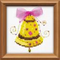 Счастливый звон, набор для вышивания, 10х10см, бисер+мулине 5+6цветов Риолис