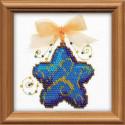 Волшебная звездочка, набор для вышивания, 10х10см, бисер+мулине 5+1цветов Риолис