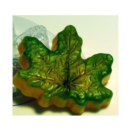 Кленовый лист, пластиковая форма для мыла