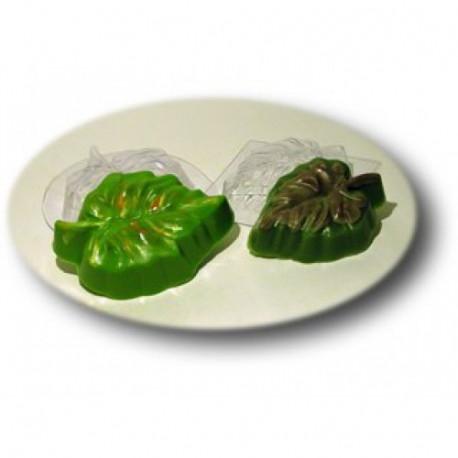Осенний листочек, пластиковая форма для мыла