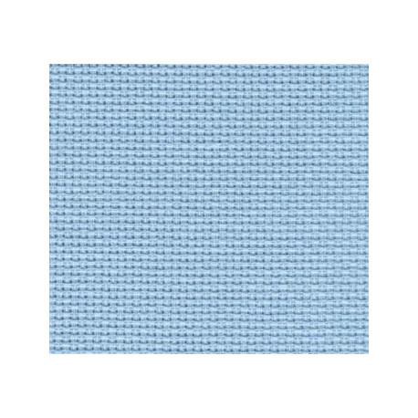 Канва Aida №14, 100% хлопок, 50х50 cм, голубой