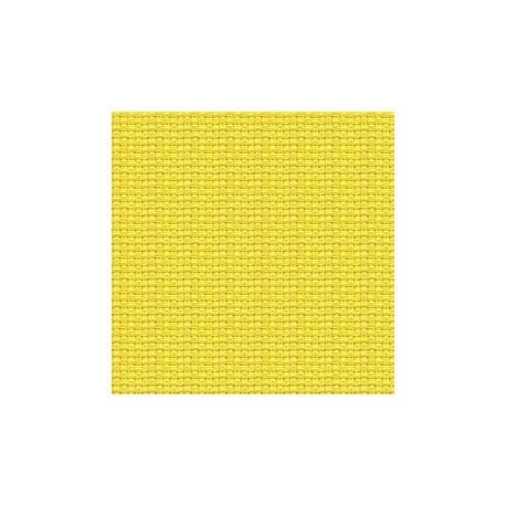 Канва Aida №14, 100% хлопок, 50х50 cм, желтый