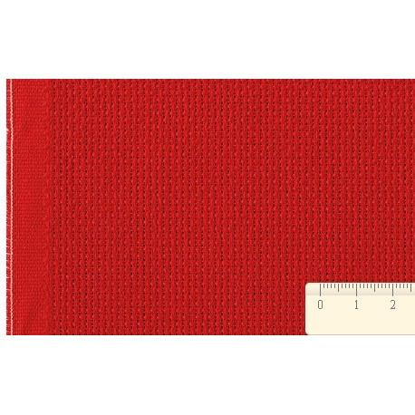 Канва Aida №14, 100% хлопок, 50х50 cм, красный