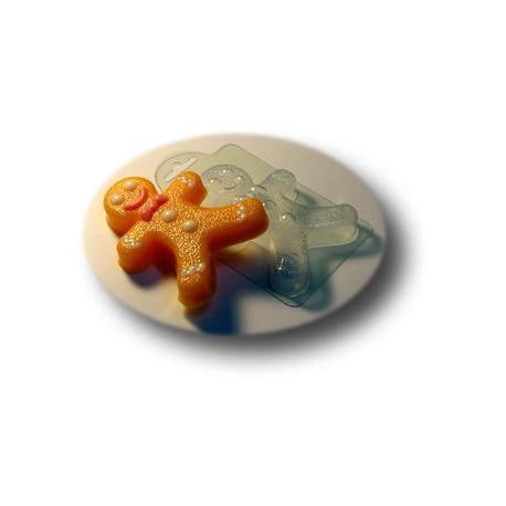 Пряничный человечек, пластиковая форма для мыла МФ