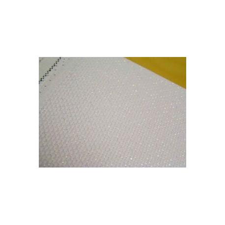 Канва Aida №14, 95% хлопок 5%терилен, 30х40 cм, белый с перламутровым люрексом