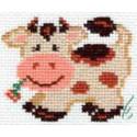 Пятнышко, набор для вышивания крестиком, 7х7см, 6цветов Алиса