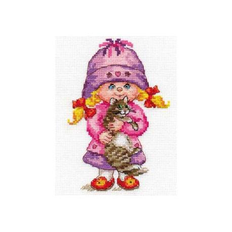Дашенька, набор для вышивания крестиком, 11х16см, 24цвета Алиса