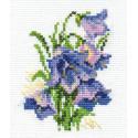 Колокольчики, набор для вышивания крестиком, 8х10см, 11цветов Алиса