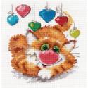 С днем рождения!, набор для вышивания крестиком, 12х13см, 15цветов Алиса