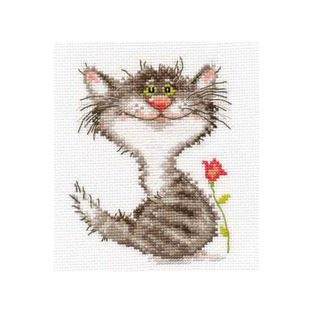 Кис, набор для вышивания крестиком, 11х14см, 11цветов Алиса