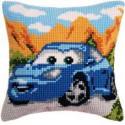 """Sally"""", подушка для вышивания, канва 100% хлопок, нитки 100% акрил 40х40 см"""