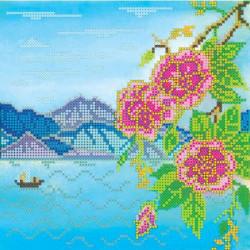 Берег, холст с рисунком для вышивки бисером, 20х20см, 16цветов АбрисАрт
