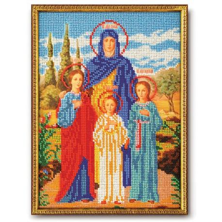 Вера, Надежда, Любовь и мать София, набор для вышивания бисером 19х26см Радуга Бисера