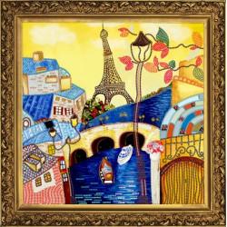 Весна в Париже, набор для вышивания бисером, 28х28см, 11цветов НоваСлобода