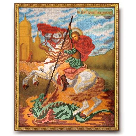 Георгий Победоносец, набор для вышивания бисером 21х26см Радуга Бисера