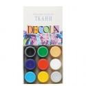 Набор красок по ткани акриловых 9х20мл Decola +t!