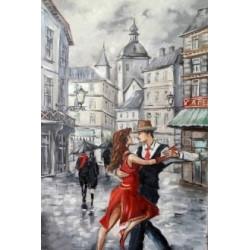 Танго в городе, набор для изготовления картины стразами 40х60см 40цв. полная выкладка АЖ