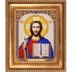 Господь Вседержитель, ткань с рисунком для вышивки бисером 13,5х16,5см. Благовест