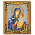 Неувядаемый Цвет Богородица, набор для вышивания бисером 20х24см Радуга Бисера