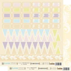 Билетики, бумага для скрапбукинга 30x30см, 190г/м Fleur Design