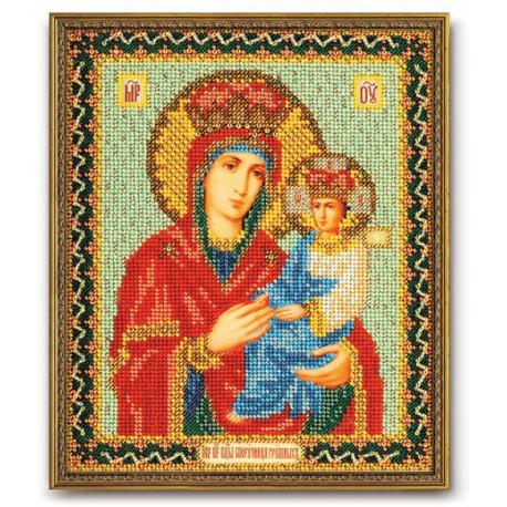 Споручница грешных Богородица, набор для вышивания бисером 20х24см Радуга Бисера