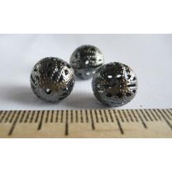 Черный никель, бусины ажурные 12мм 10шт, Zlatka