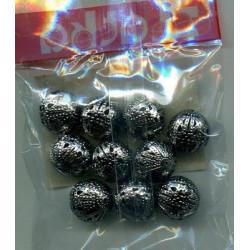 Черный никель, бусины ажурные 16мм 10шт, Zlatka