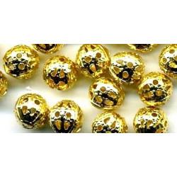 Золото, бусины ажурные 20 мм 16шт, Zlatka