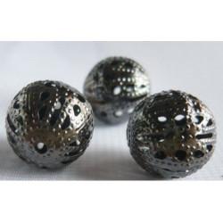 Черный никель, бусины ажурные 20мм 10шт, Zlatka