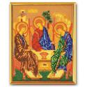 Святая Троица, набор для вышивания бисером 19х24см Радуга Бисера