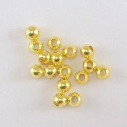 Золото, бусины 100% железо диаметр 5.5мм 50шт, Zlatka