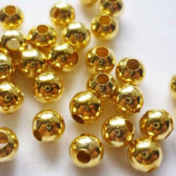 Золото, бусины 100% железо диаметр 3.5мм 50шт, Zlatka