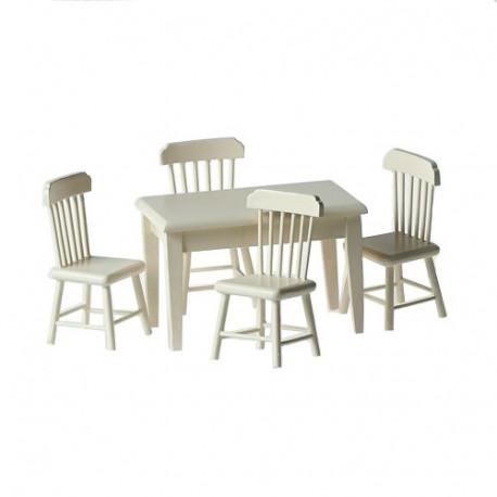 Набор стол и 4 стула, кремовый Art of Mini
