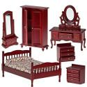 Набор мебели для спальни, махагон Art of Mini