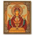 Неупиваемая Чаша Богородица, набор для вышивания бисером 20х24см Радуга Бисера