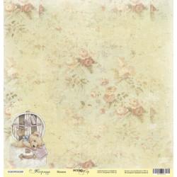 Мишка из коллекции Корица, лист односторонней бумаги 30х30см, 190гр/м Scrapmir