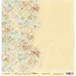Воздушный шар из коллекции Корица, лист односторонней бумаги 30х30см, 190гр/м Scrapmir