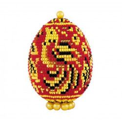 """Яйцо """"Хохлома"""", набор для бисероплетения. Риолис"""