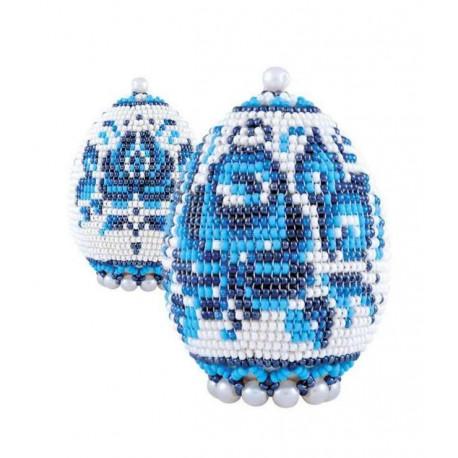 """Яйцо """"Гжель"""", набор для бисероплетения. Риолис"""