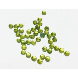 Оливковый, стразы клеевые 3.1 мм, акрил, 144 шт, Zlatka