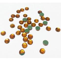 Табачный, стразы клеевые 3.1 мм, акрил, 144 шт, Zlatka