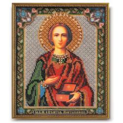 Пантелеимон Святой, набор для вышивания бисером 19х23см Радуга Бисера