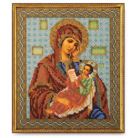 Утоли мои печали Богородица, набор для вышивания бисером 20х24см Радуга Бисера