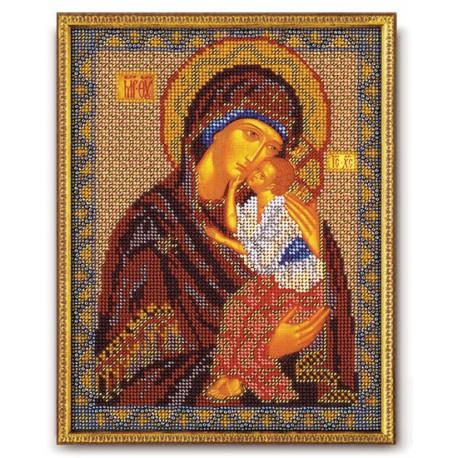 Ярославская Богородица, набор для вышивания бисером 20х25см Радуга Бисера